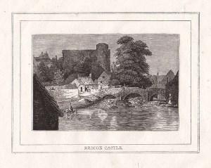 Brecon Castle by Hugh Hughes