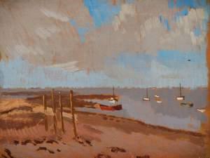 Beach, Llanstephan by Edward Morland Lewis